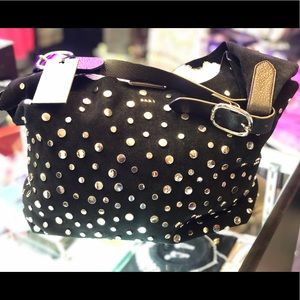 DKNY Wes Stud Hobo  Suede Handbag !! Gorgeous